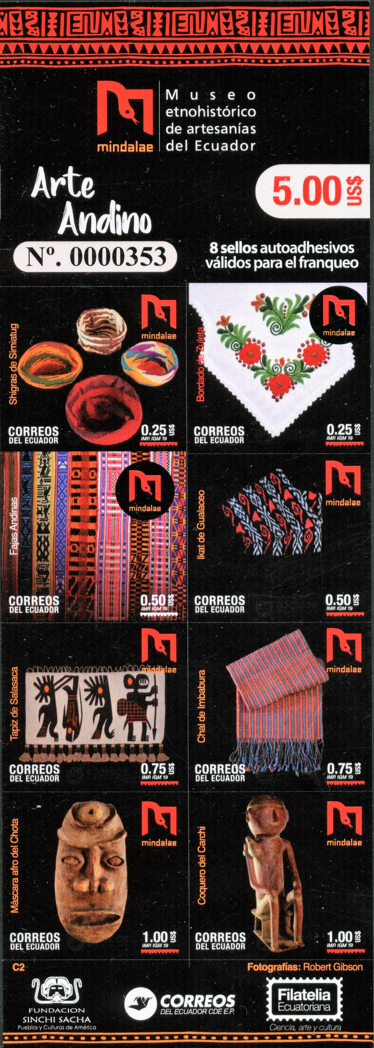 self-adhesive booklet of 8 of 8 designs